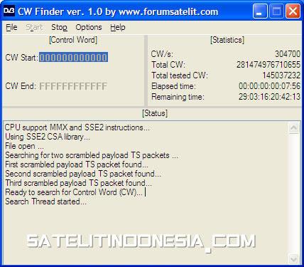 cara menggunakan cw finder