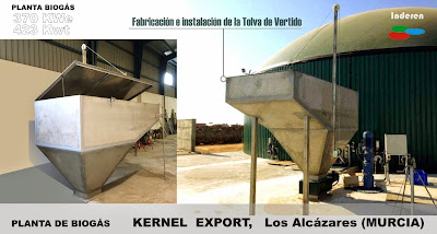 Tolva de vertido en SS 304 planta de biogas kernel 500kw