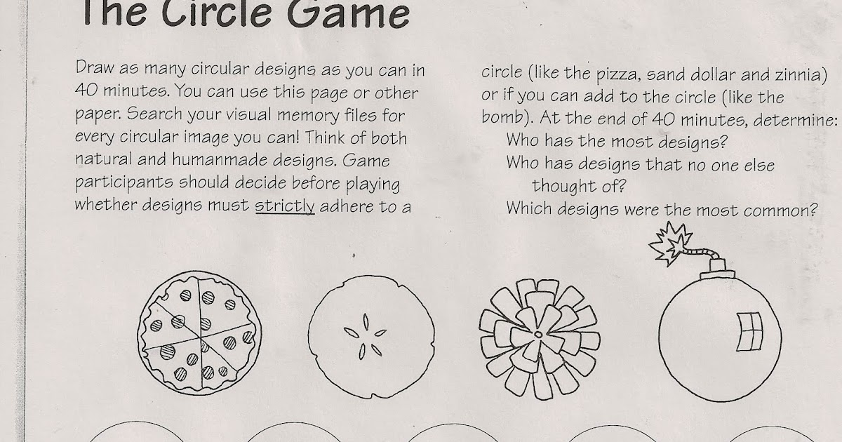 No corner suns free art sub lesson the circle game adapted from