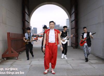 Psy Korea archway