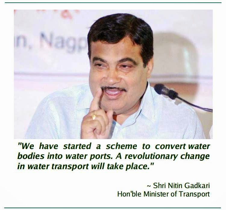 http://economictimes.indiatimes.com/policy/water-ports-better-road-connectivity-what-nitin-gadkari-is-focusing-on/articleshow/42535605.cms