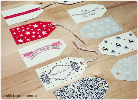 Etiquetas regalos Navidad - fdefifi