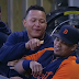 Miguel Cabrera playfully shares snack with teammate (Video)
