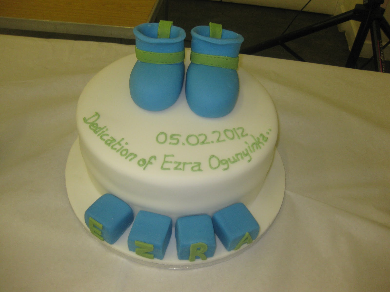 The Great Cake Experience: Baby boots - Baby Dedication