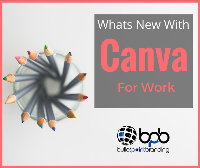 What Is New With Canva For Work | Bullet Point Branding