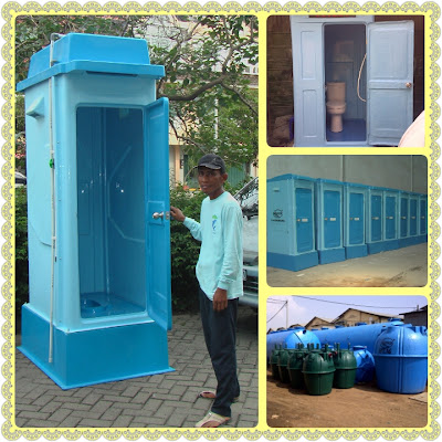 toilet portable fibreglass, flexible toilet frp, wc sementara, wc proyek, toilet praktis, closet duduk, urinoir, toto, septic tank biotech