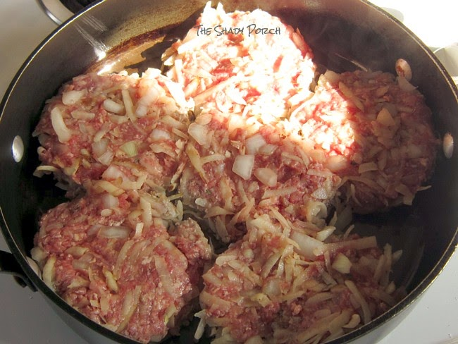 PotatoBurger cooking in beef broth