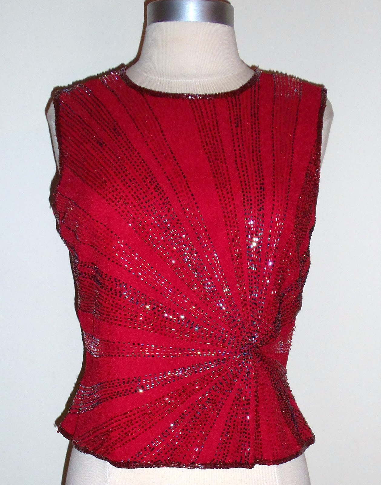 Thrifty chic shop vintage sequins and beaded tops for Boutique tops