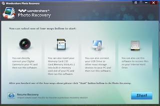 Langkah 1 Mengembalikan Photo dari Micro SD yang Terformat dengan Wondershare Photo Recovery 3.0.2.1
