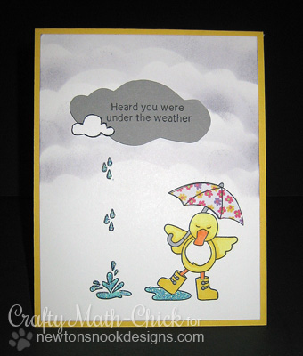 Get Well duck card by Crafty Math Chick for Newton's Nook Designs!