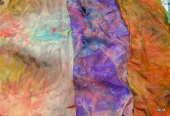 Conversations In Cloth Dyeing Silk Scarves With Spectra