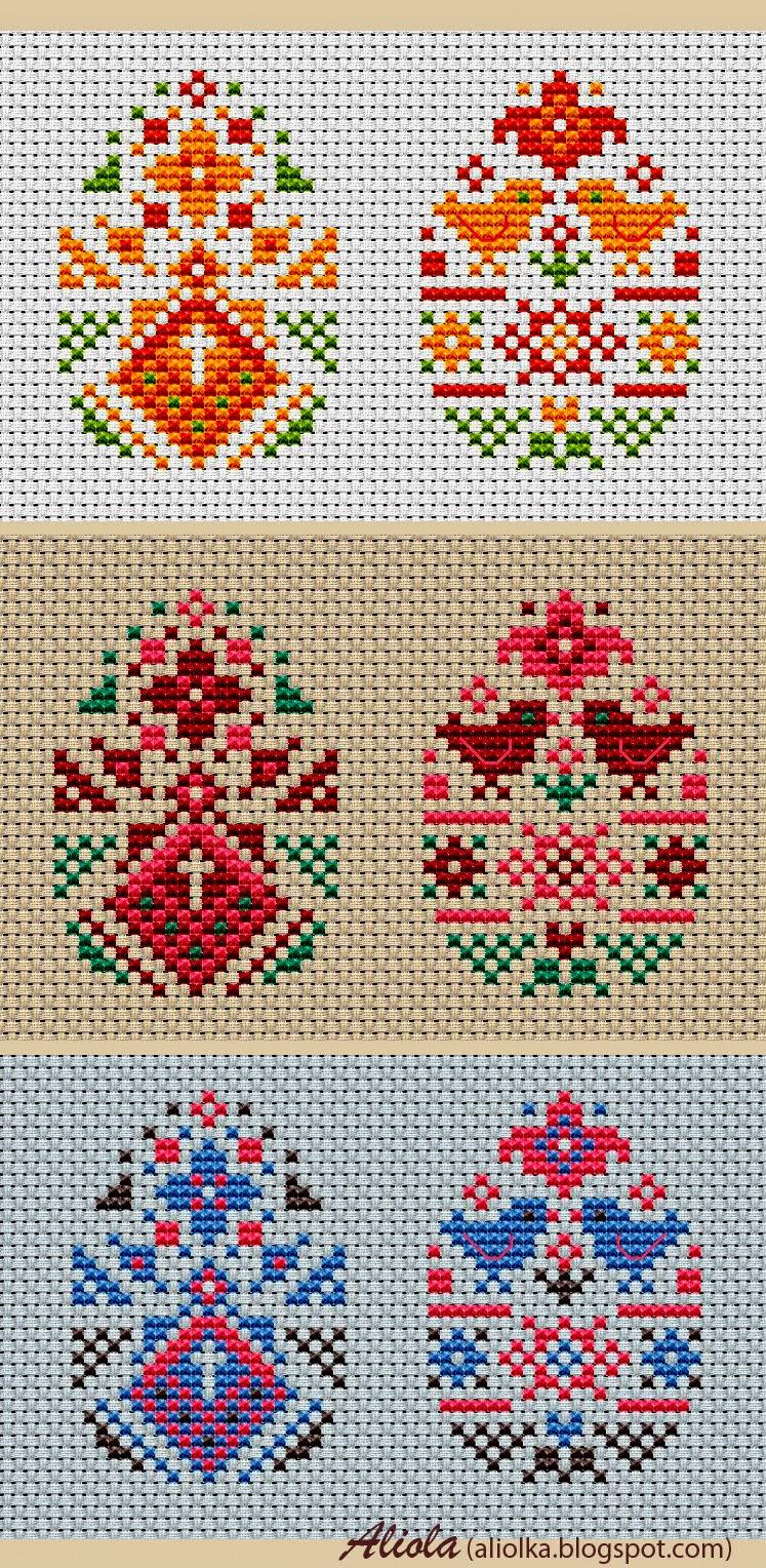 Вышивка крестом пасхальное яйцо схема 3