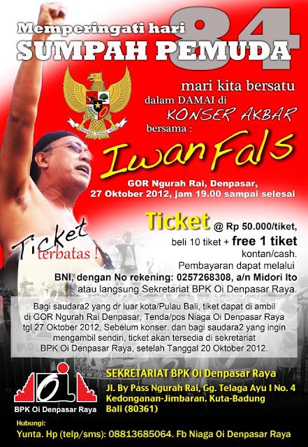 Konser Akbar Sumpah Pemuda thn 2012- Iwan Fals