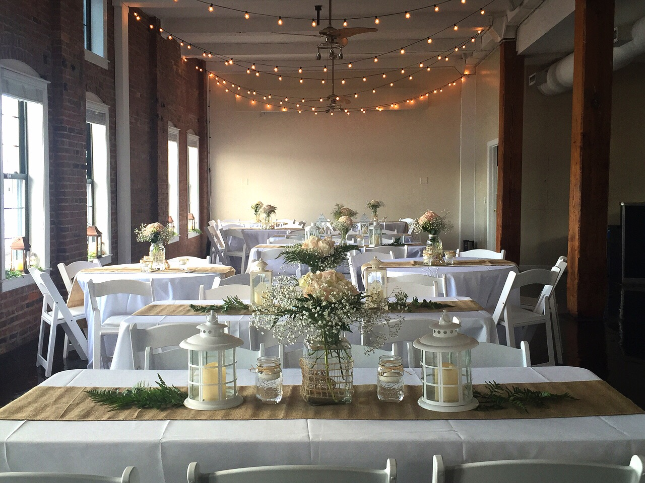 The Layout Of The Room Included Both Round Tables And Rectangular Tables  For Guests, Cocktail Tables By The Bar, A Glass Table For Decorations, ...
