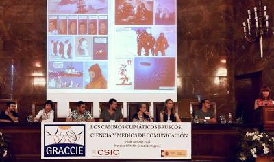 Cómic de divulgación Expedición Malaspina en el congreso Graccie CSIC