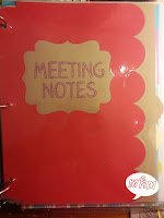 Meeting Notes Divider Page from Miss, Hey Miss!