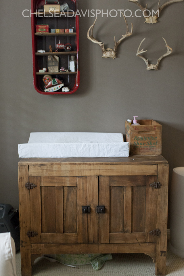 Vintage hunting nursery designed by ashley from southern farmhouse