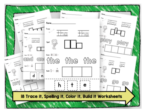 Keeping My Kiddo Busy How I teach SIGHT WORDS Free Printables – Free Sight Word Worksheets