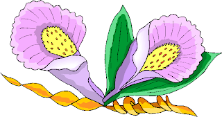Two Purple Flowers Clipart
