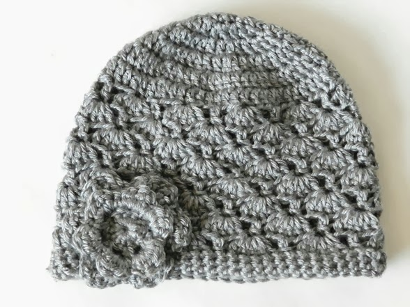 Women's Grey Crochet Hat