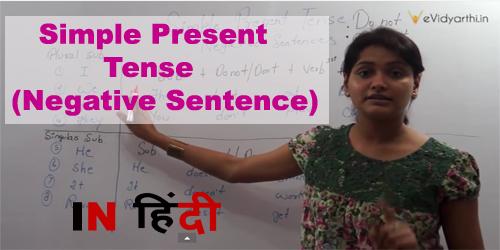 Simple Present Tense (Negative Sentence)