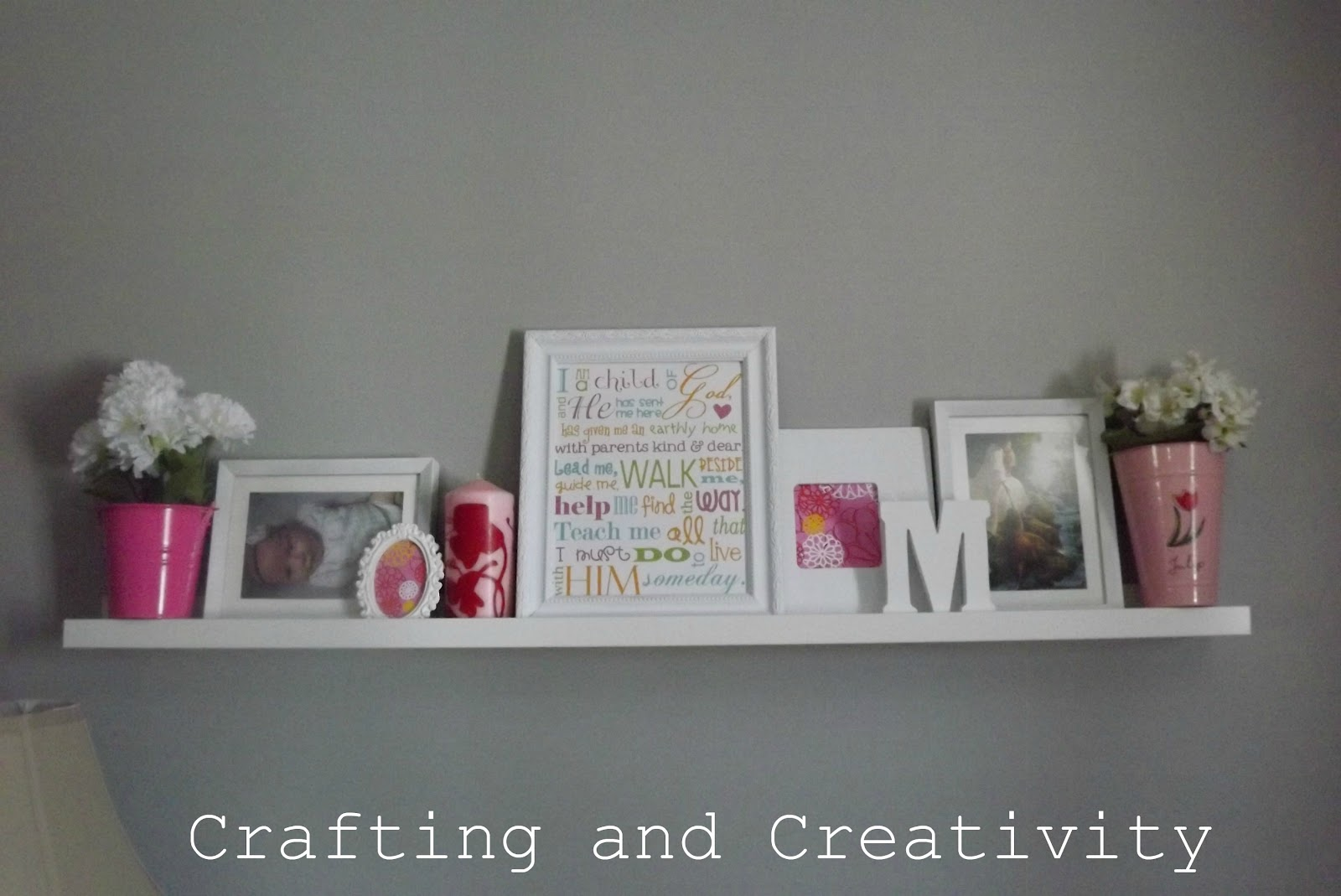 Crafting And Creativity: Tour Of My House  Stuff On The Walls!