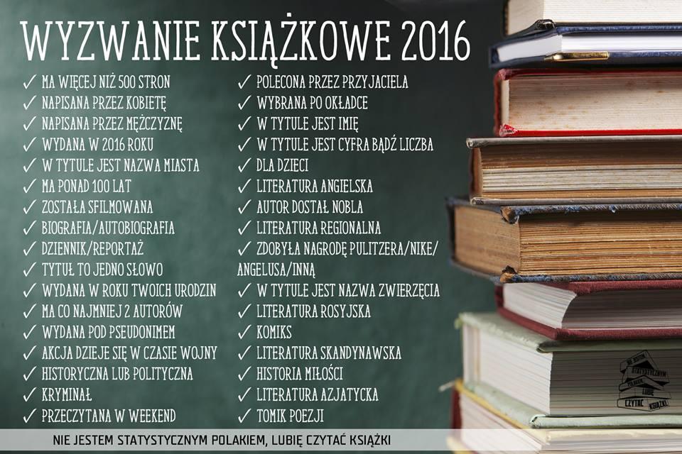 Wyzwanie książkowe 2016