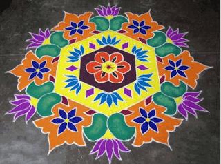 Happy Pongal Rangoli Kolam 2016