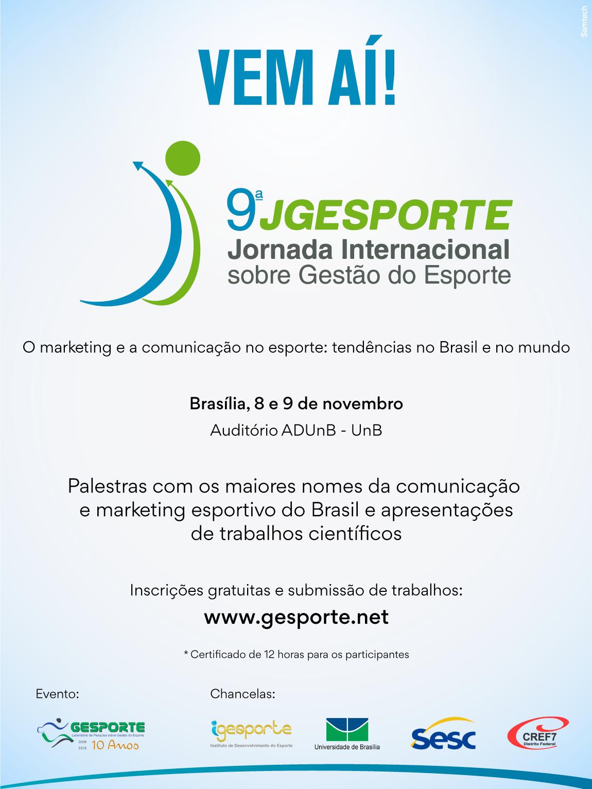 9ª Jornada Internacional sobre Gestão do Esporte - 9ª JGESPORTE