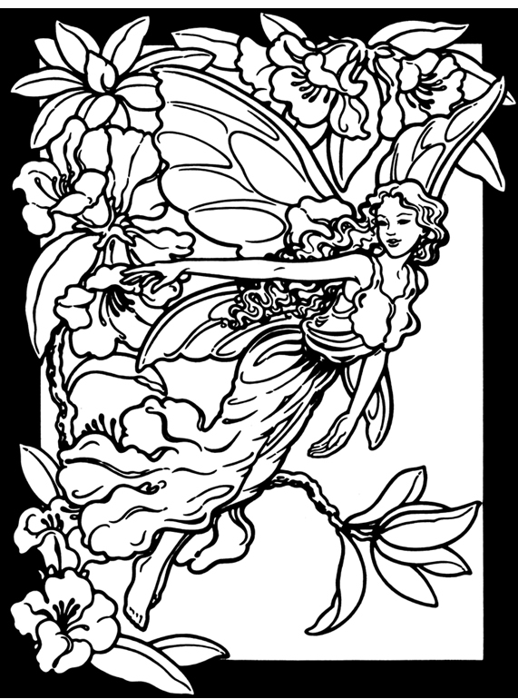 Inkspired musings spring fairies budget paper craft and for Flower fairy coloring pages
