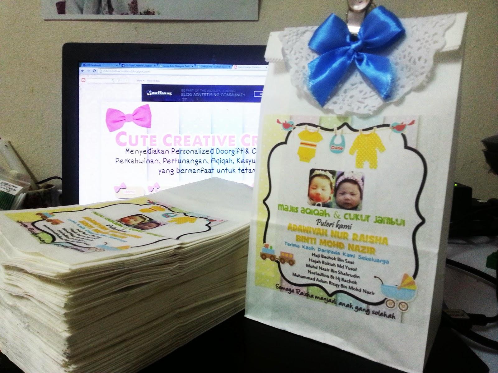 Paper bag utk doorgift joy studio design gallery best for Idea doorgift untuk aqiqah