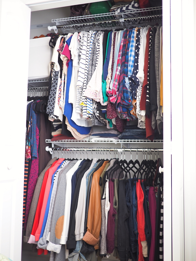 Small closet organization- 31 ways to makeover your closet via Real Simple Small closet organization - this I must do soon before my closet door wont close anymore! Small closet organization for the boys room 31 Ways to Make Over Your Closets Capitalize on Every Inch Even tight closets can be kept in check with helpers like bins and hanging shelves.