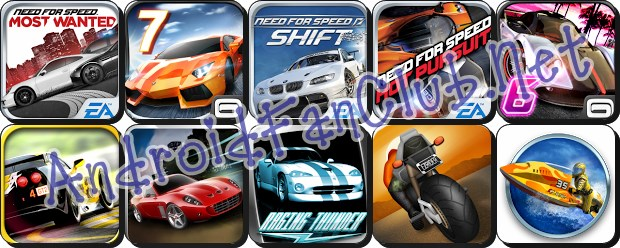 Top 10 HD Racing Games for Android Devices - APK Downloads - Samsung Galaxy S III - HTC One X - Galaxy S II