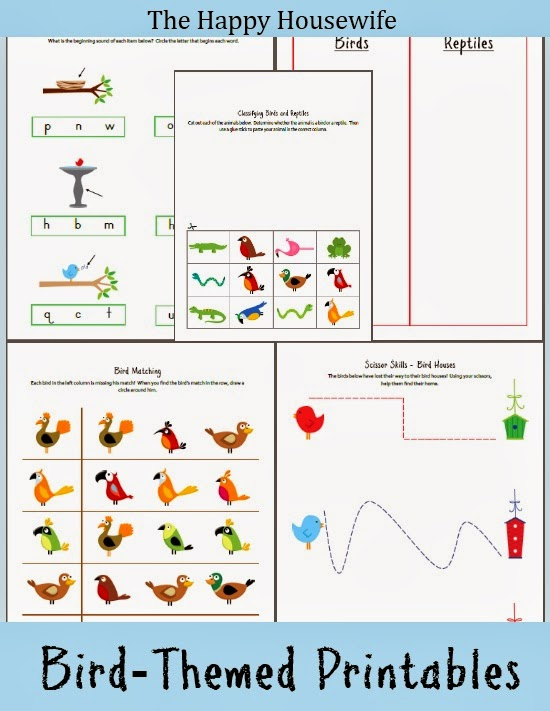 http://thehappyhousewife.com/homeschool/bird-worksheets-free-printable/