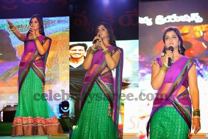 Shyamala Green Half Saree