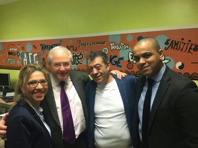 Jeudi 30 avril. Avec Chafia et Hachmi de La Chorba pour Tous et le Président Jean-Paul Huchon