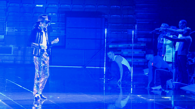 Michael Jackson's – This is it - Michael directing the rehearsals looking after every aspect, from choreography to sound.