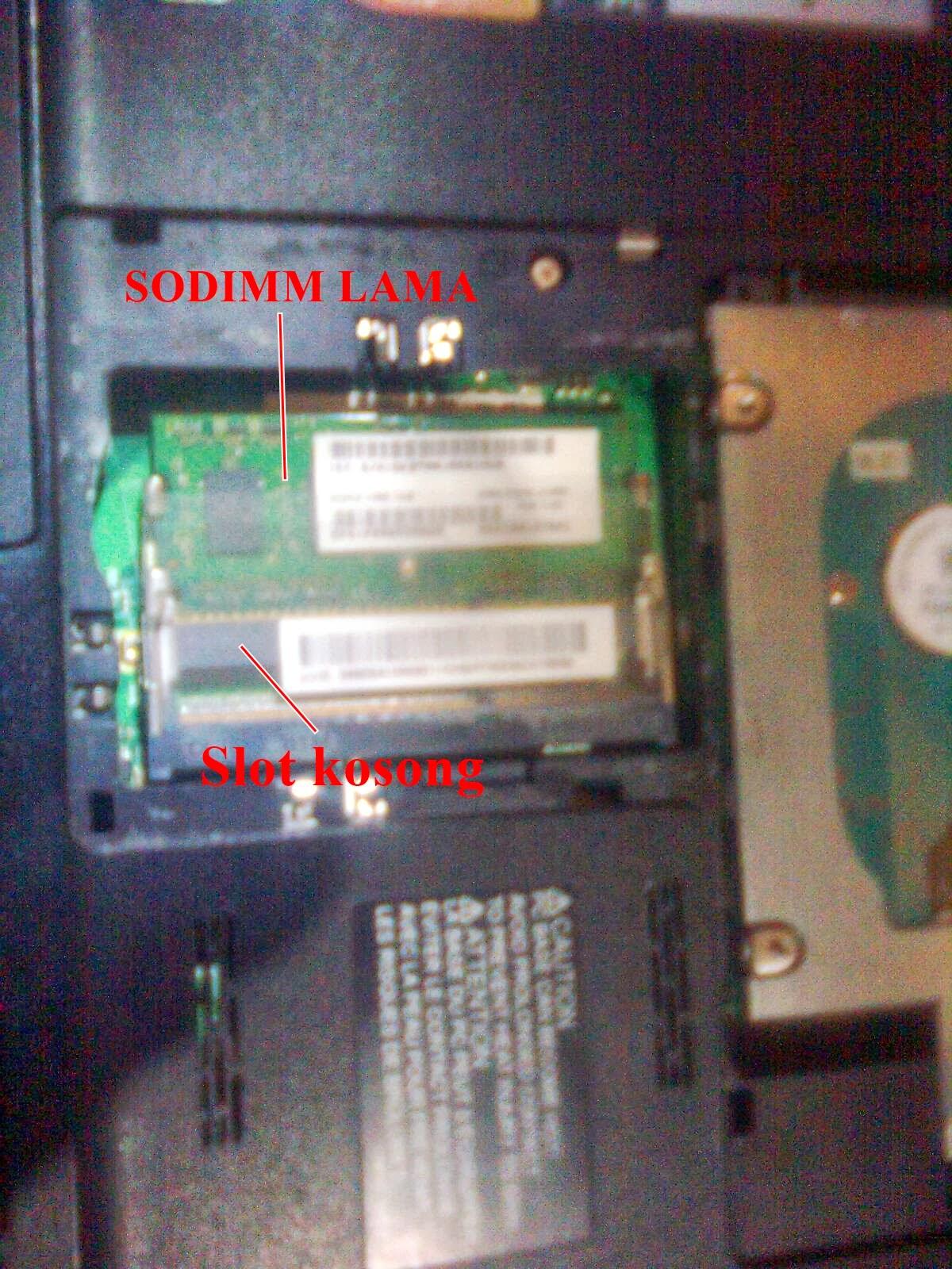 SODIMM Lama & Slot Memory kosong  Laptop Toshiba C640