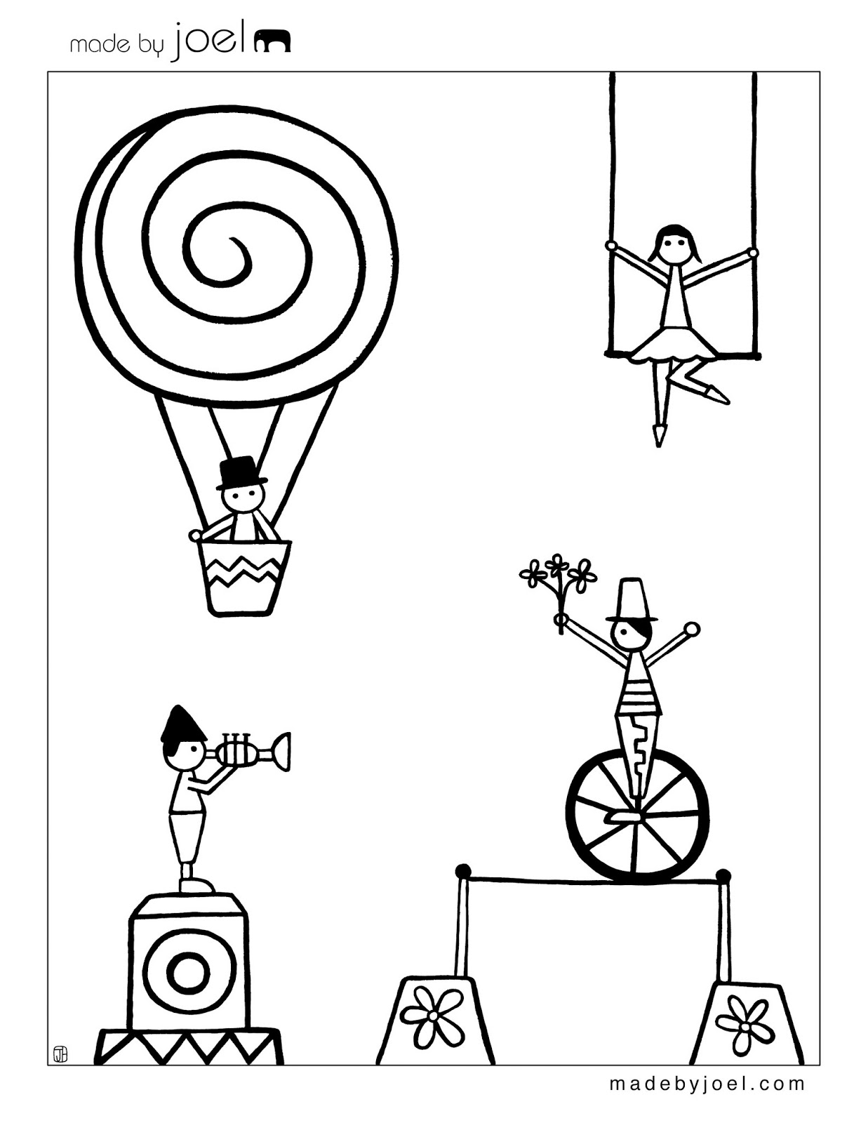 Be different act normal free printable circus coloring for Printable circus coloring pages