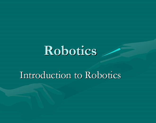 Introduction To Robotics Mechanicstips