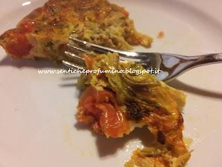 Frittata di fiori di zucca e zucchini al forno