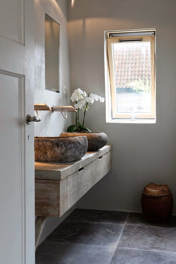 decorar un baño con estilo natural?