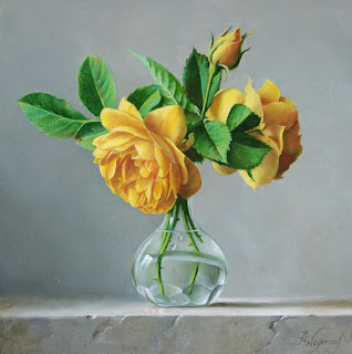 Cuadros Flores Amarillas Pintadas