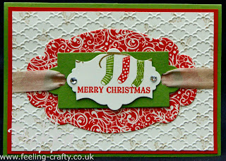 Hang Up Your Stockings Christmas Card by Stampin' Up! Demonstrator Bekka Prideaux - these are the stockings from the lovely Owl Occasions Stamp Set