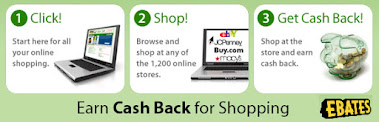 Remember to shop through eBates for Cash Back!