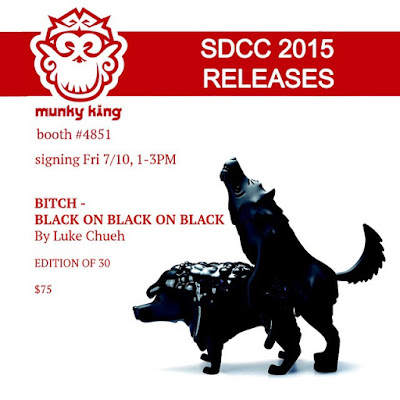 "San Diego Comic-Con 2015 Exclusive ""Black on Black on Black"" Bitch Vinyl Figure by Luke Chueh"