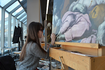 Antonio Carneo's The Death of Rachel undergoing conservation treatment