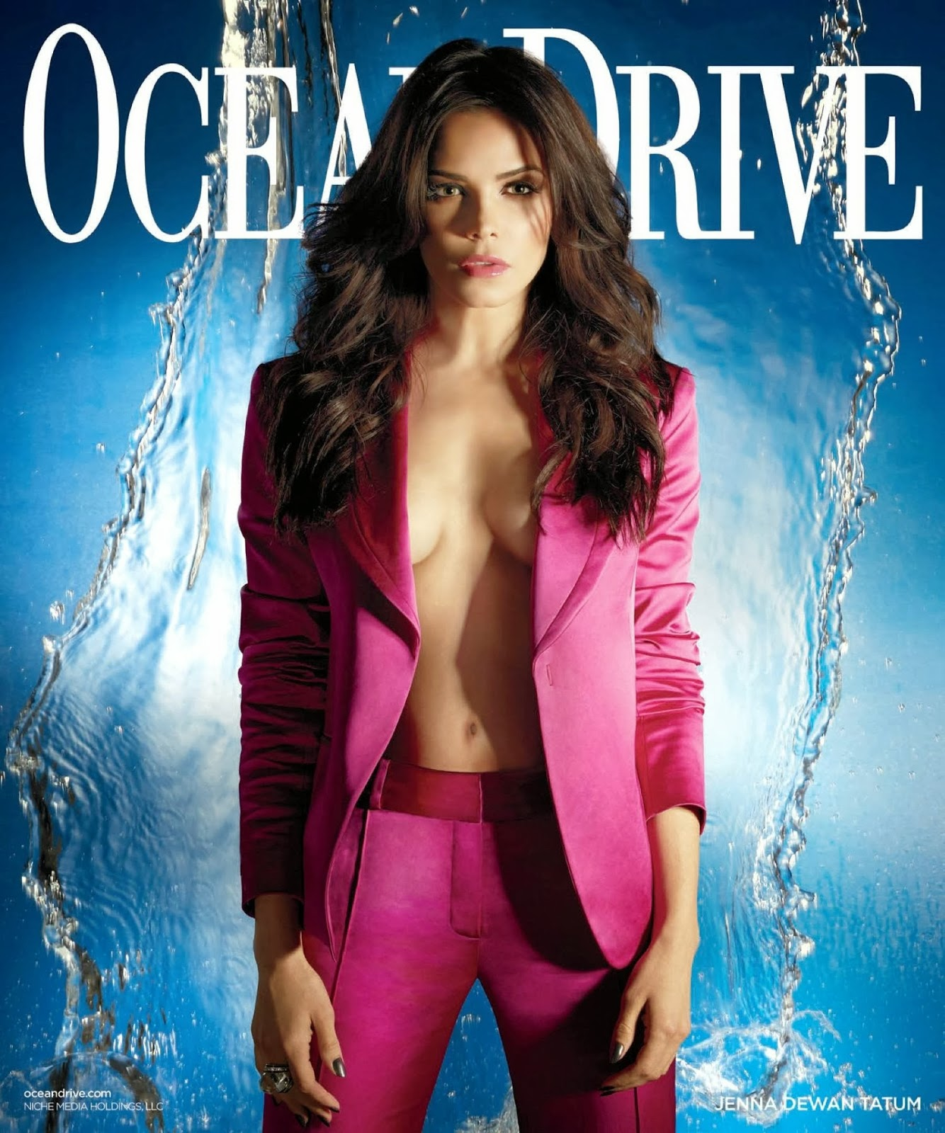 Magazine Photoshoot : Jenna Dewan-Tatum Photoshot For Robert Ascroft Ocean Drive Magazine January 2014 Issue