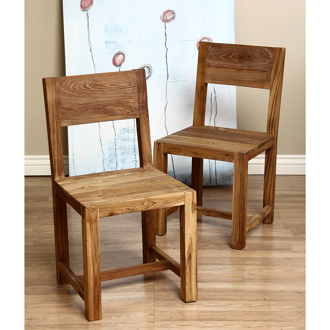 Maggies Room Reclaimed Teak Dining Chairs