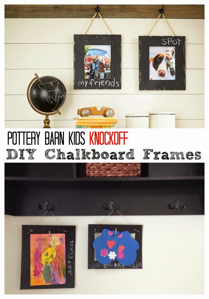 Two It Yourself Pottery Barn Knockoff Chalkboard Frames
